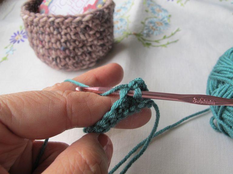 Double crochet step 2