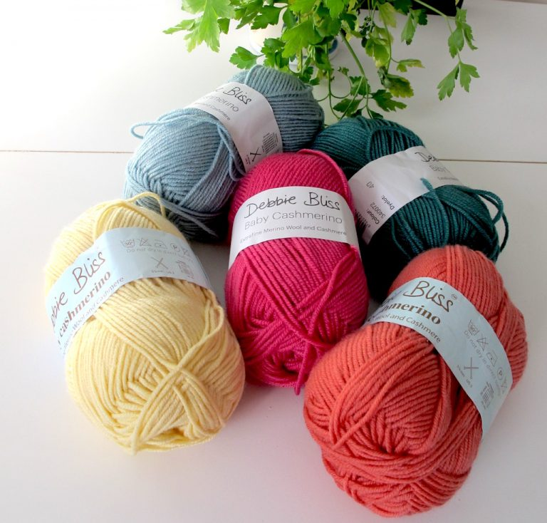 FIve shades of Debbie Bliss Baby Cashmerino