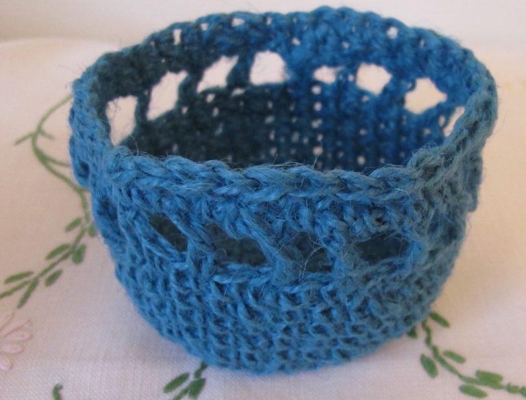 Little string crocheted basket