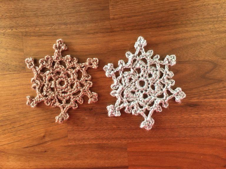 Crochet Christmas snowflakes