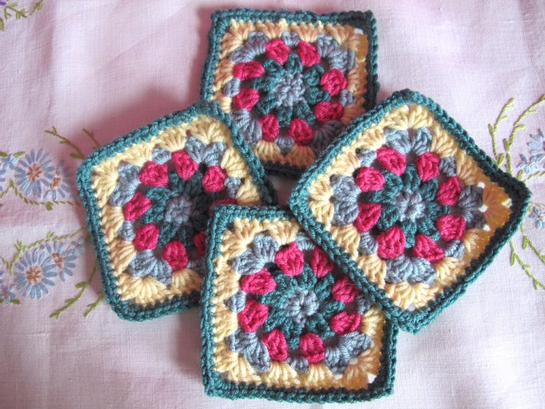 Floral square kingfisher colourway