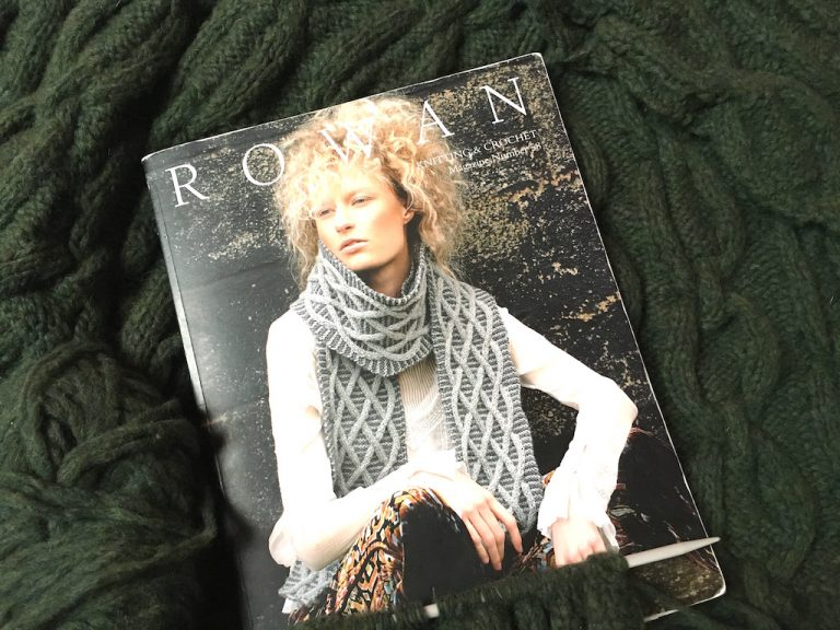 Rowan book containing the Glacier jumper pattern