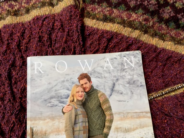 The rowan book containing Ness jumper pattern
