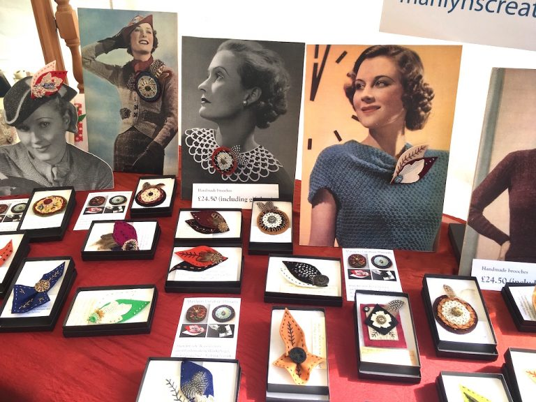 vintage woolen felt brooches from Marilyn's Creative Threads