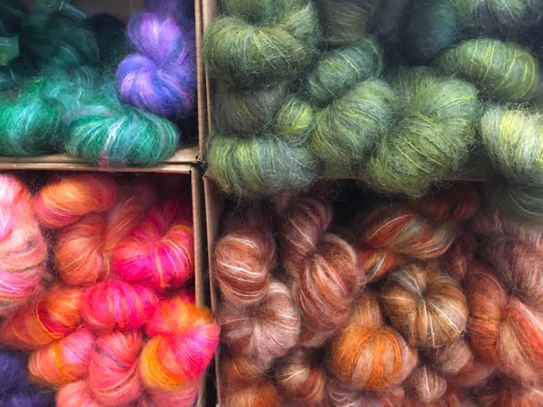 Fluffy wool in bright colours