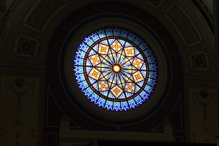 Ally Pally stained glass window