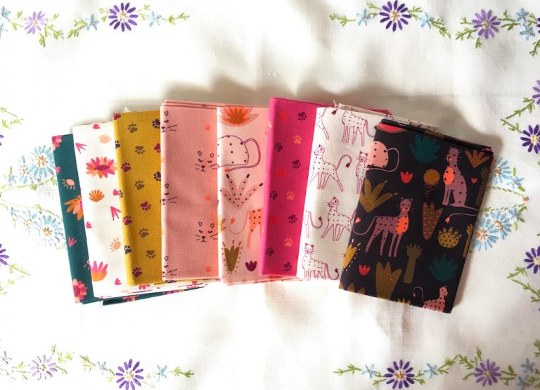 Animal print fabric squares