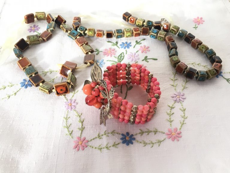 Ceramic bead necklaces and bracelet