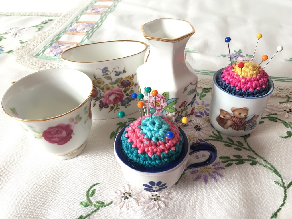 Crochet china pincushions
