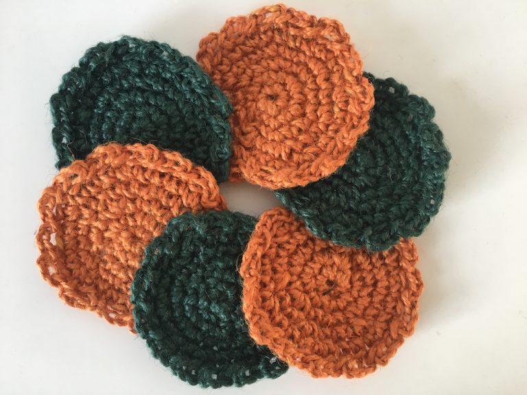 Christmas crochet coasters