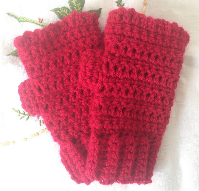 beginners chunky fingerless gloves