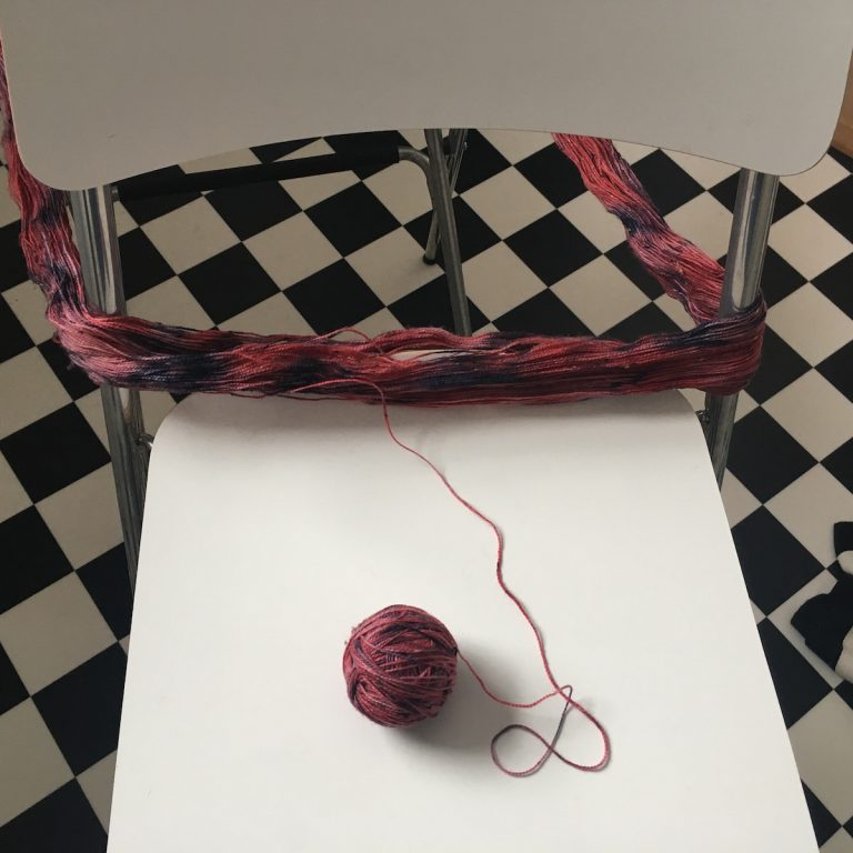 winding wool from hank