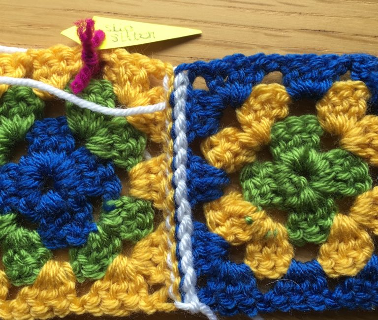 Back of slip stitch join