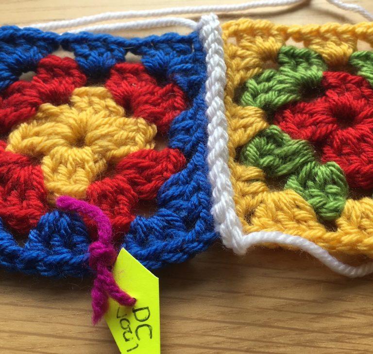 double crochet join