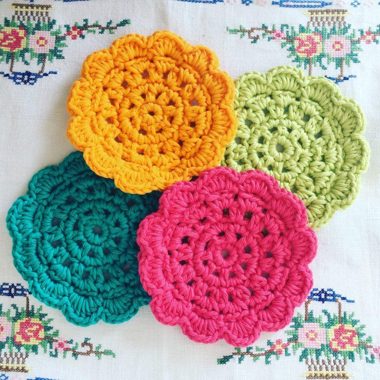crocheted coasters