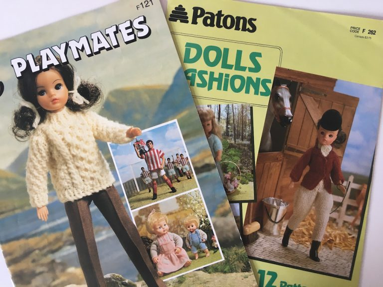 Patons knitting patterns for Sindy and other dolls