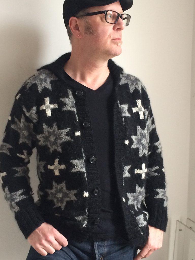 Quilt jumper by knitwear designer Martin Storey