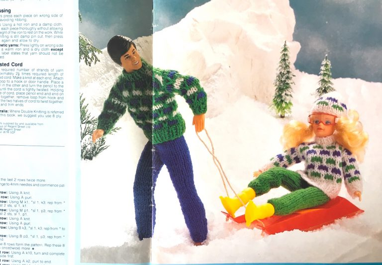 SIndy and Paul knitting pattern skiwear