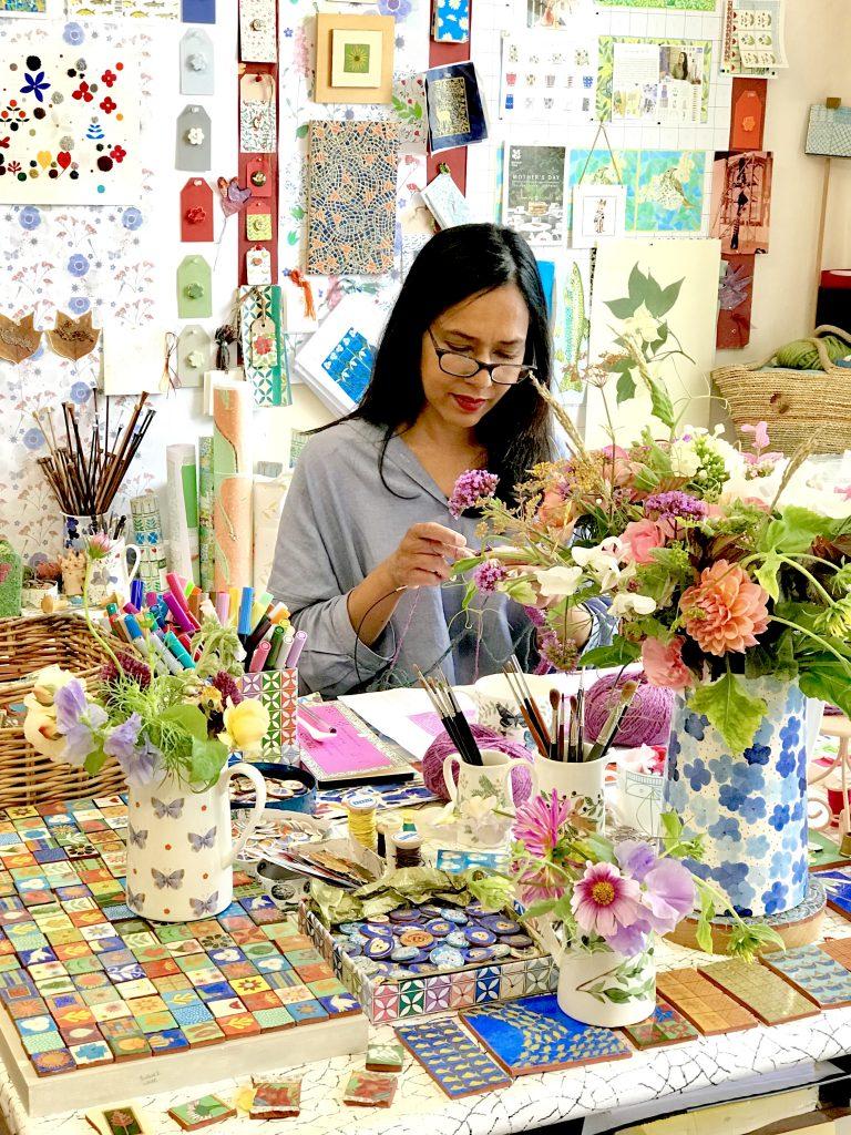 Dee Hardwicke in her studio