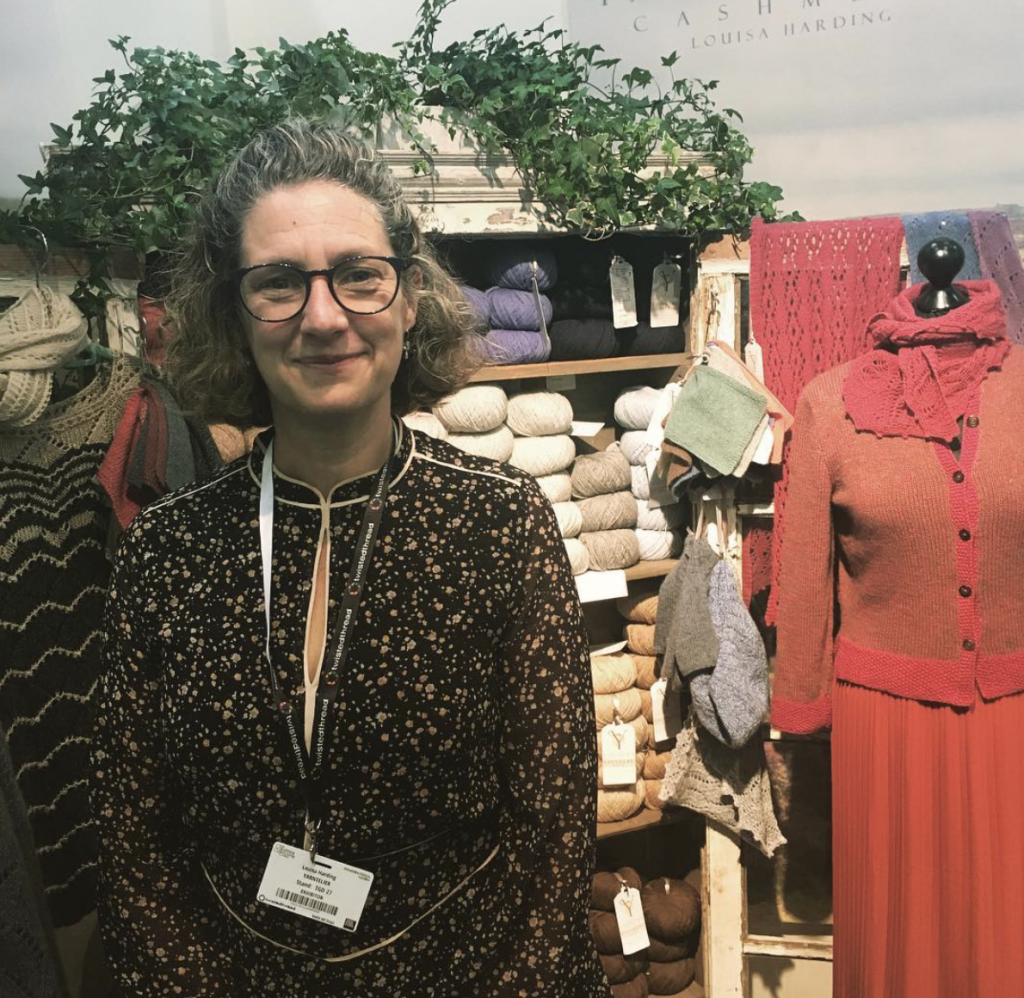 Louisa Harding at the Knitting & Stitching show in 2018