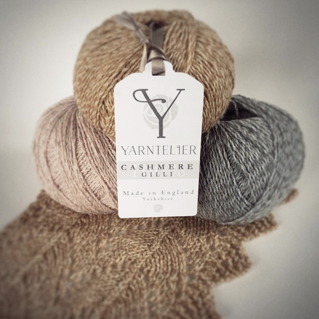 Yarntelier Cashmere Gilli yarn in three colours