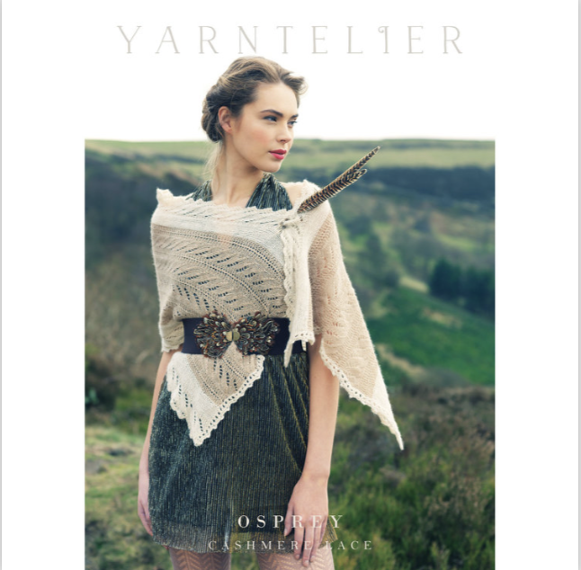 A Yarntelier pattern leaflet for Osprey wrap
