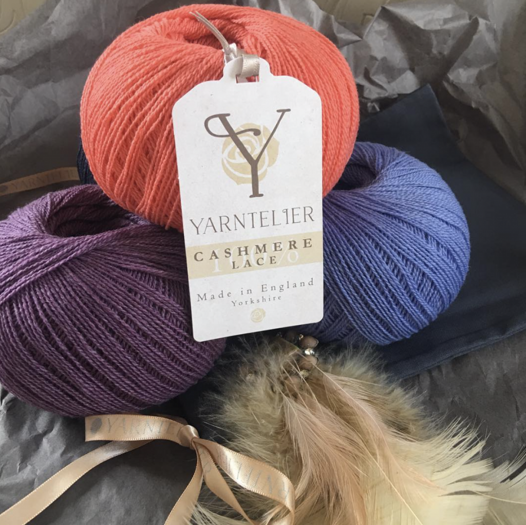 Yarntelier Cashmere Lace yarn in three colours