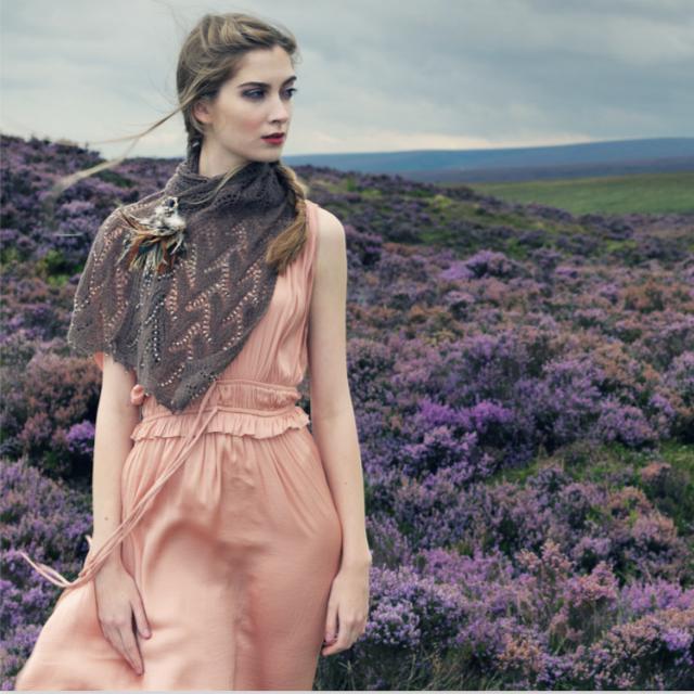 Louisa Harding designed Yarntelier grey Olena wrap