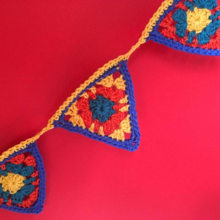 crochet granny bunting