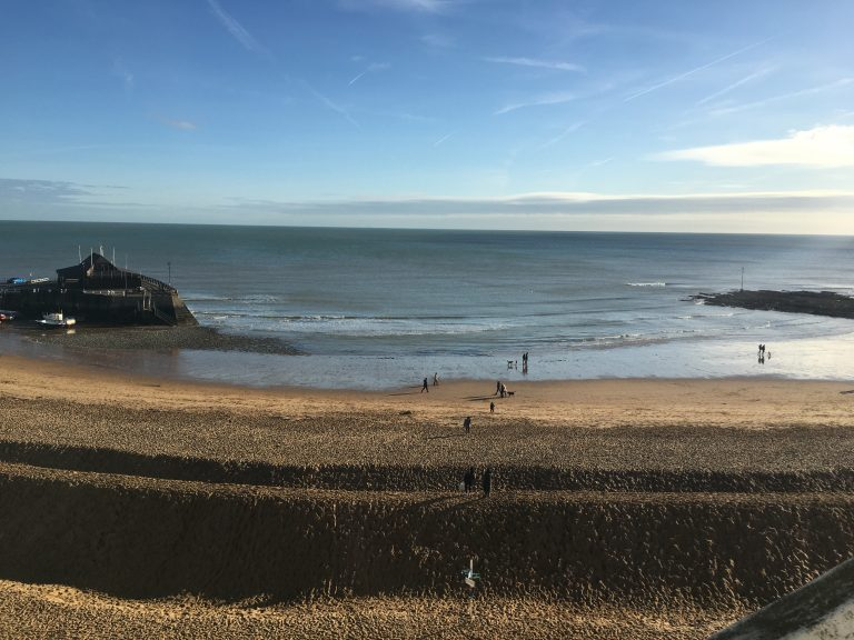 Broadstairs beach in winter