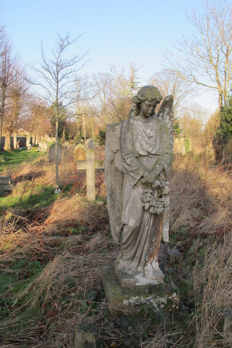 Angel statue in st peters thanet graveyard