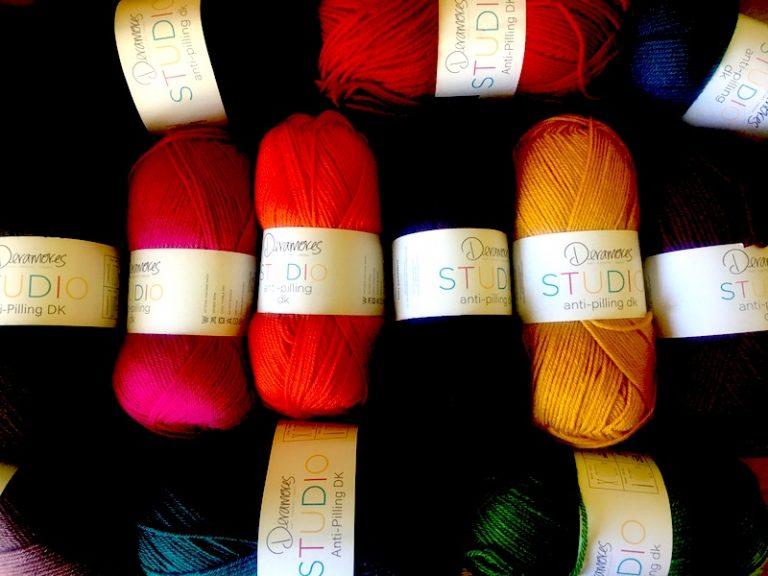 A range of Deramores Studio DK yarn for the crochet-along