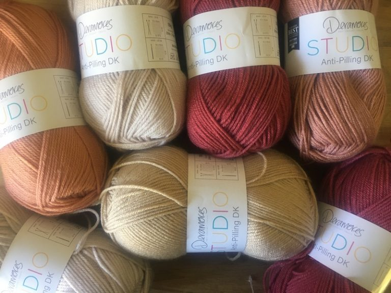 Subtle colours of Deramores Studio DK yarn