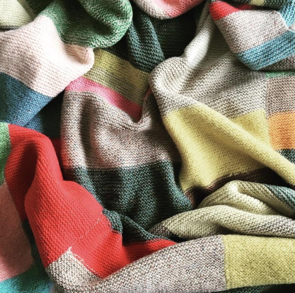 Annie's grandma's knitted blanket